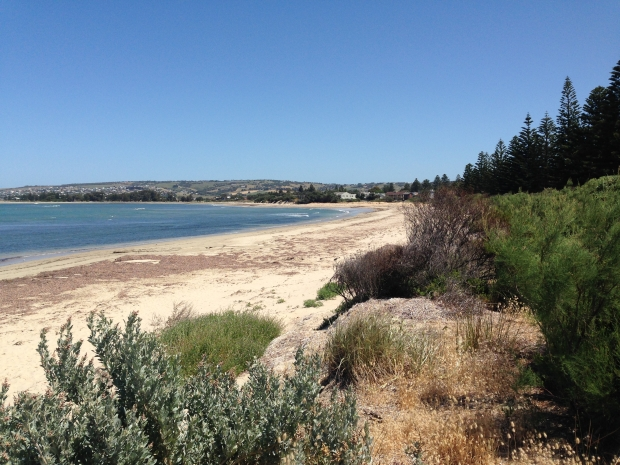At a nearby beach, you can see the same greys, greens, blues, browns and sandy shades as Sarah has planted in her garden