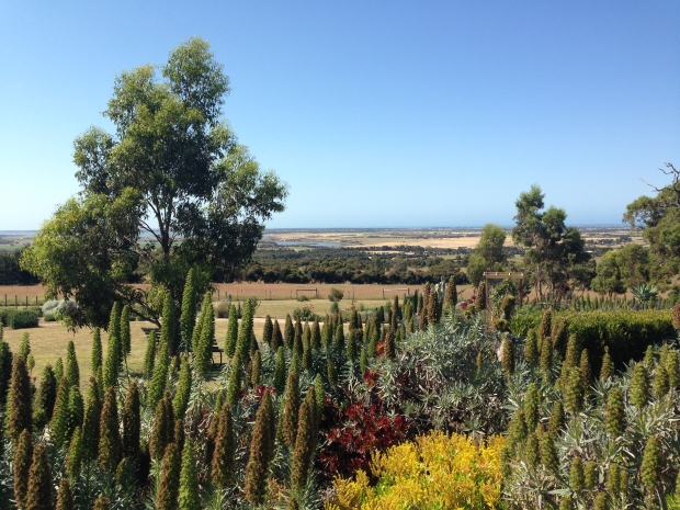 The views over bush and farmland to rivers and the ocean at absolutely stunning