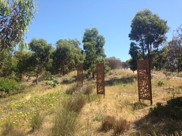 Where garden met bush, wilder plantings blurred the boundaries; these screens worked wonderfully along this bank to add structure and interest