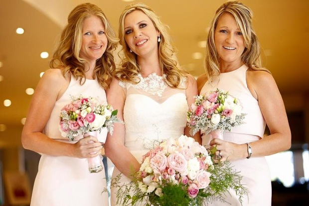 Me (hair and make up done for the first time in years!), my gorgeous bride, Jo, and the lovely, indefatigable bridesmaid Karly