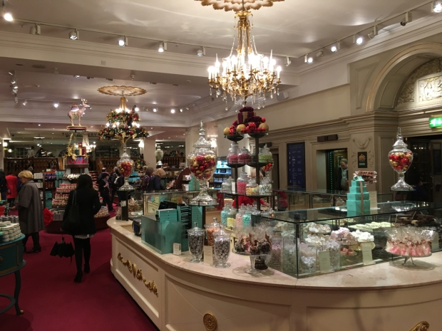 A trip to Fortnum and Mason with Christmas decorations had me laughing to myself about Love Actually