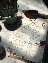 Adorable trowel clip on the menu