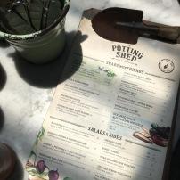 Adorable trowel clip on the menu