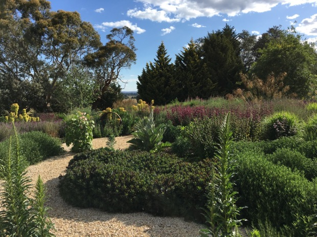 Michael McCoy designed perennial garden in the foothills of Mount Macedon