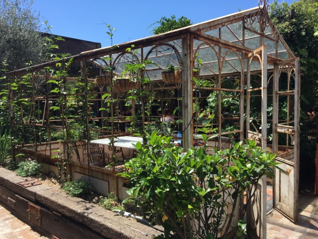 Or perhaps you'd like to have your meal in a greenhouse?
