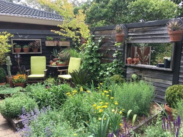 Steven Wells' home garden