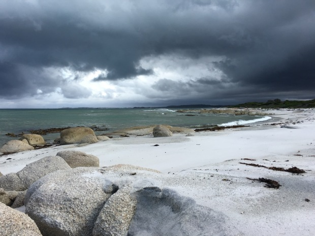 Stormy skies bring a feeling of drama to the beach