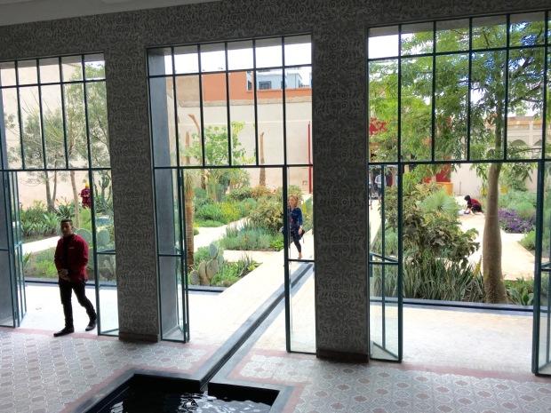 First glimpse of Le Jardin Secret Open Air Museum, in Marrakech