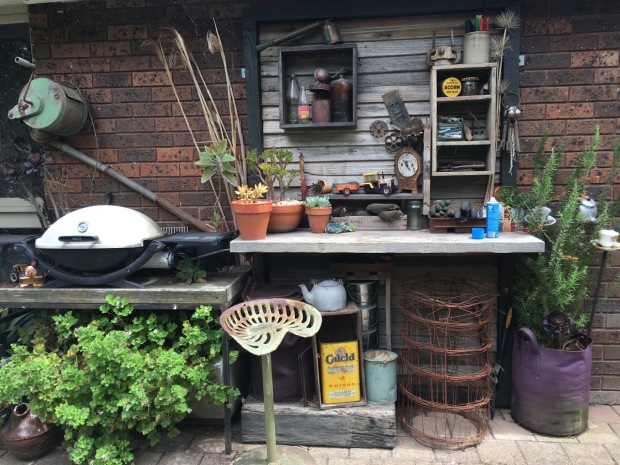 Even the barbecue/potting area is stunning, with all sorts of trickets to discover