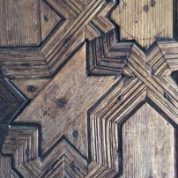 Wooden door carving