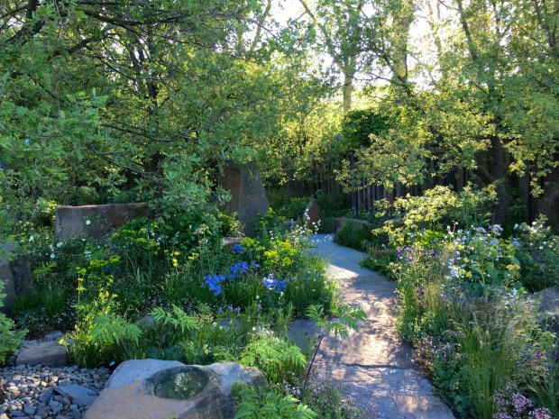 The rough path becomes smooth; symbolising designer Cleve's journey into garden design