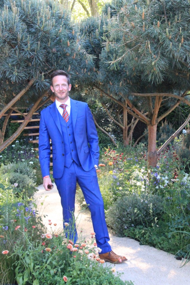 Designer Nick Bailey in his Mathematics Garden at Chelsea 2016