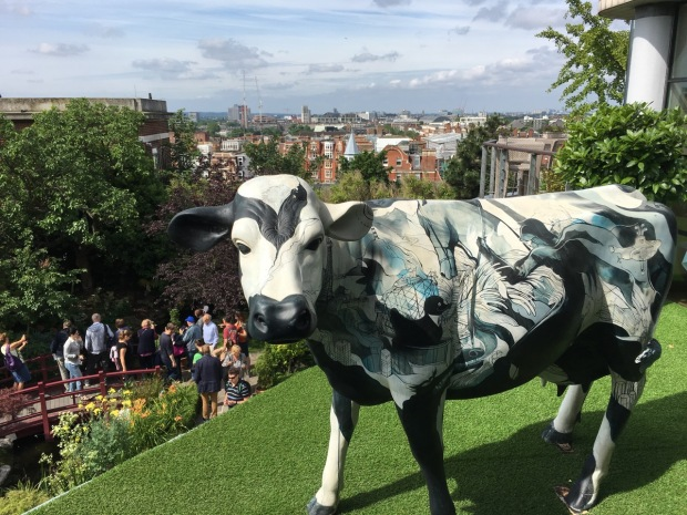 Obviously a garden is not a garden without a life size cow in tow