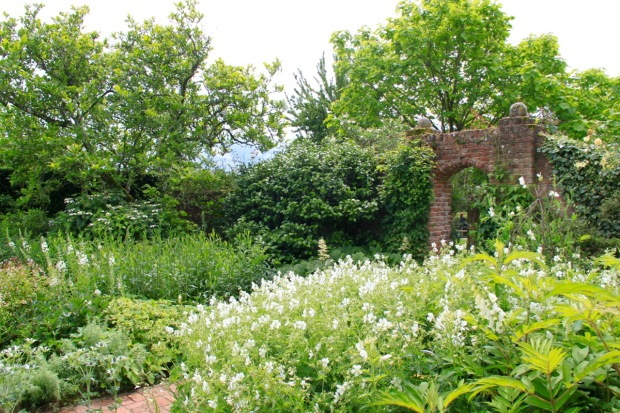 The very famous White Garden demonstrating a fabulous mix of abundance and restraint