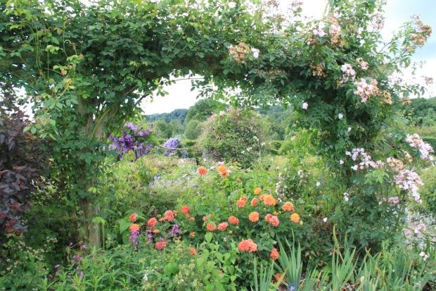 Peering into the Shrub Rose Garden at Rosemoor
