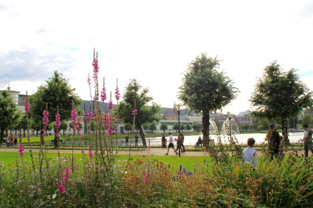The park around Lille Lungegårdsvann lake in Bergen: the best horticultural planting I saw in Norway