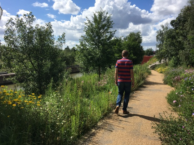 Walking along the River Lea, through the middle of the Olympic Park, you would think you were miles from London