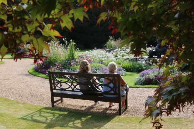 Enjoying a sunny bench with Mum!