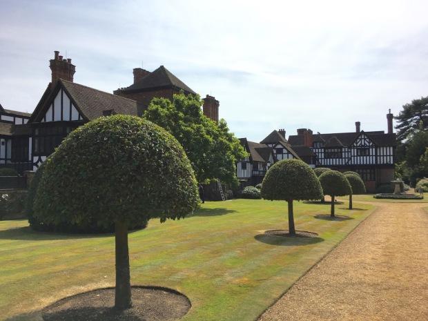 The Jacobean Ascott House and formal garden