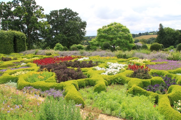The very surprising Lower Terrace parterre at Broughton Grange