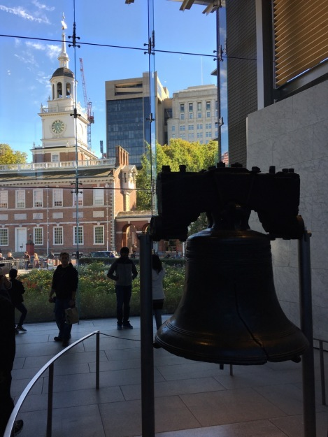 A visit to Philadelphia after the garden brought us to the Liberty Bell. Always a little strange to a Brit, just like experiencing Merdeka Day in Kuala Lumpur, where Malaysians celebrate their independence from the UK