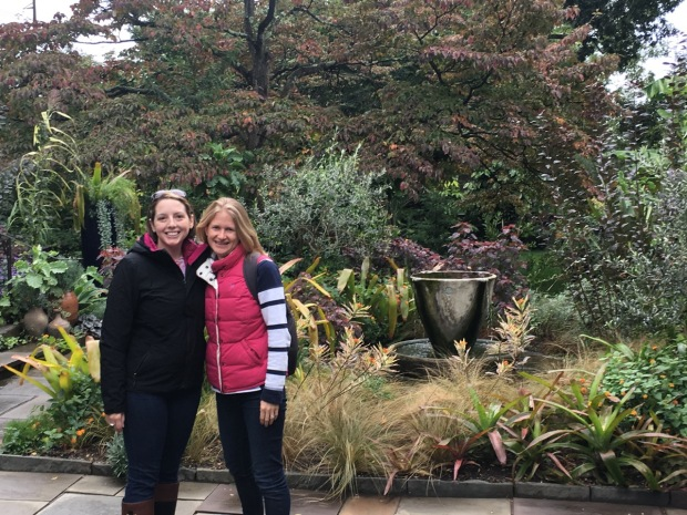 Caroline and I in the Teacup Garden at Chanticleer