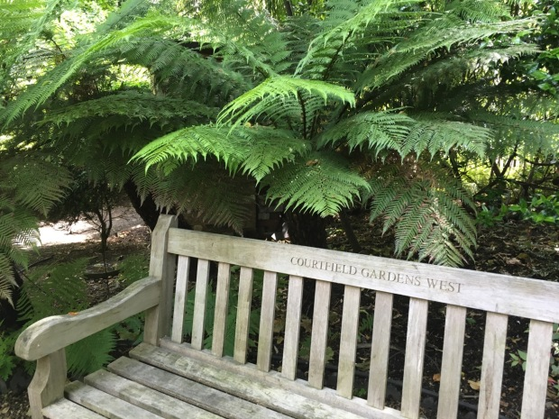 I even love simplicity of this personalised bench at Courtfield Gardens West
