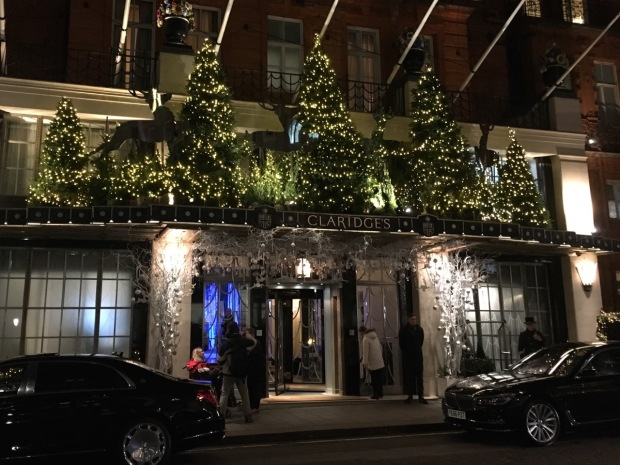 Christmas lights at Claridge's, London