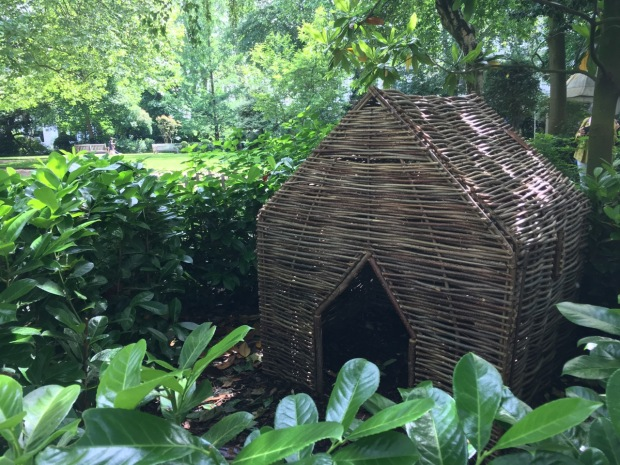 Just one of the delightful pieces in the children's garden at Courtfield Gardens West