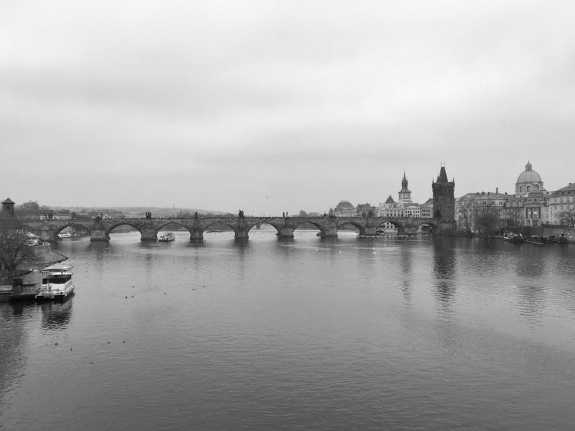 The beautiful, rhythmic Charles Bridge, Prague