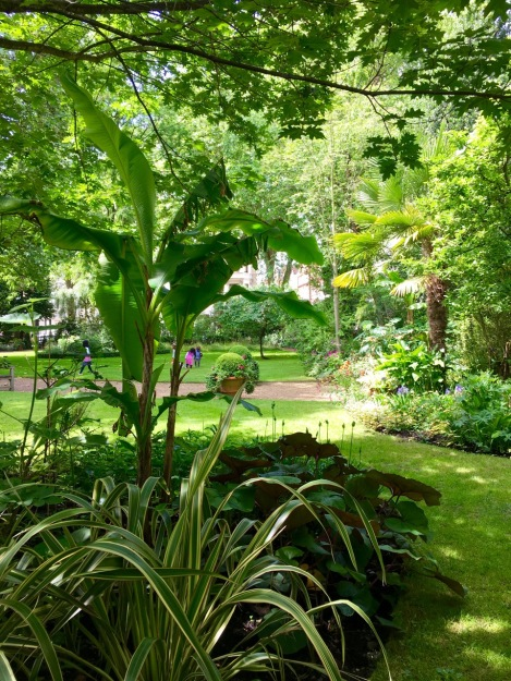 Tropical style plantings added a real wow factor; yet nestled under native trees they felt grounded in their space