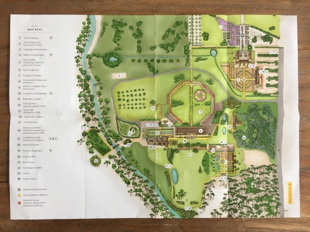 Map of Vergelegen gardens